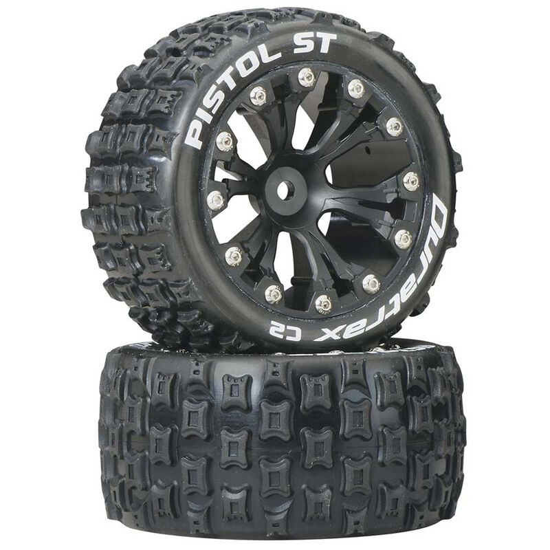 "Pistol ST 2.8"" 2WD Mounted Rear C2 Tires, Black (2)"