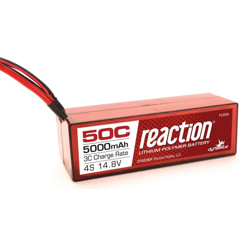 Reaction 14.8V 5000mAh 4S 50C LiPo, Hardcase, Deans