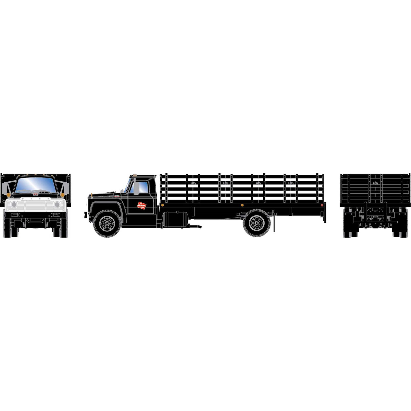 HO RTR Ford F-850 Stakebed Truck, MILW