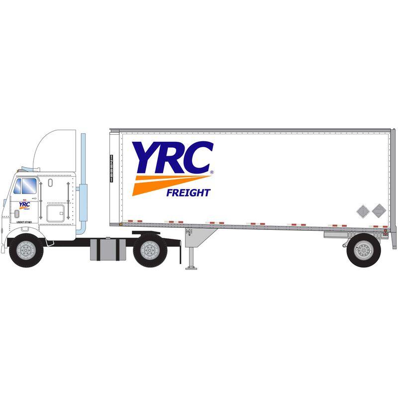 HO RTR FL-2 Axle with 28' Trailer YRC