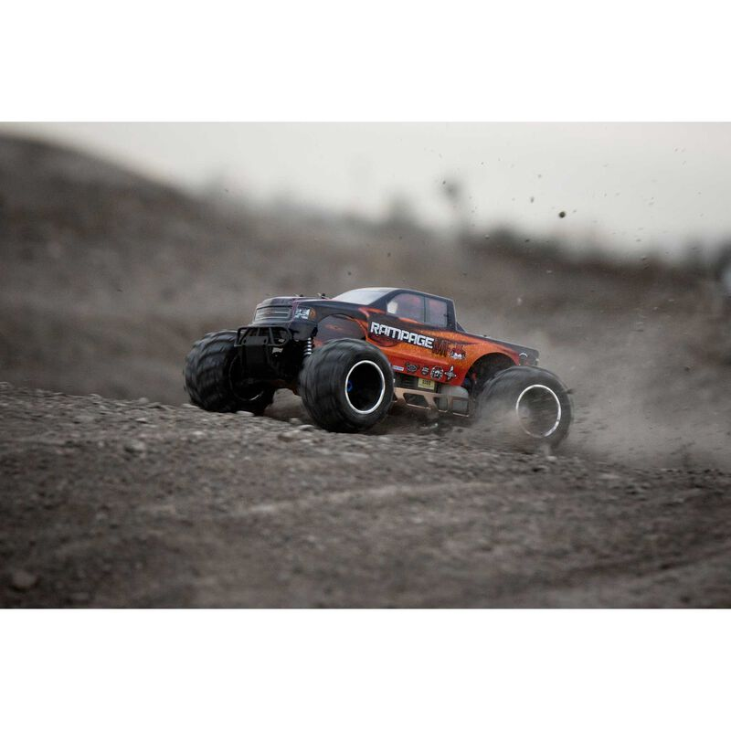 1/5 Rampage MT V3 4WD Gas Monster Truck RTR, Orange Flame