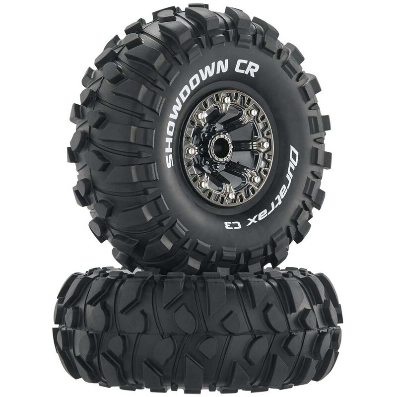 "Showdown CR C3 Mntd 2.2"" Crawler Tires, Chrome (2)"