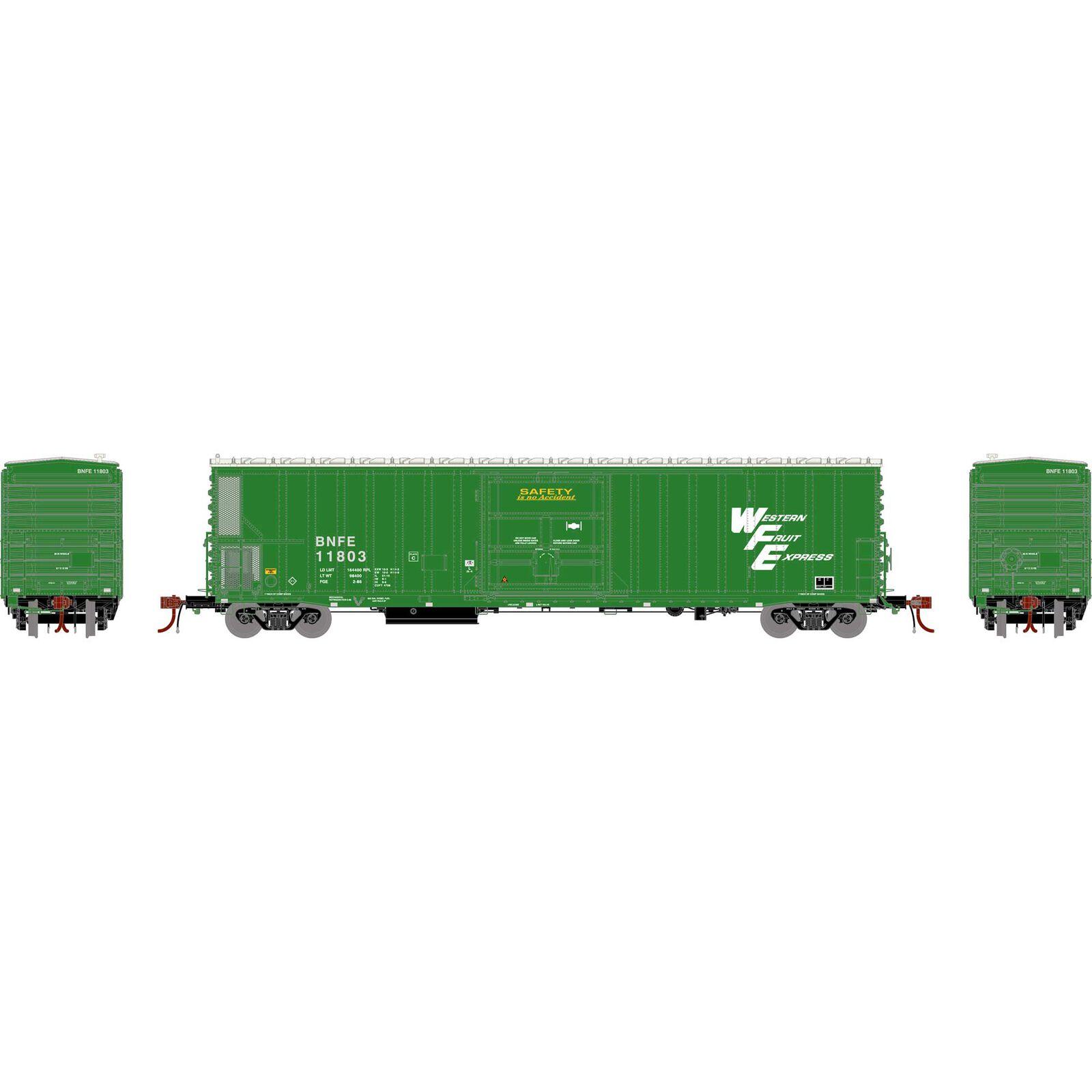 N FGE 57' Mechanical Reefer, BNFE/Green #11803