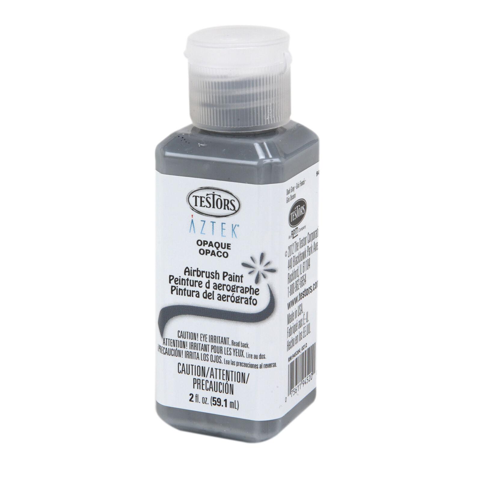 Aztek Airbrush Paint, Opaque Dark Gray Acrylic, 2 oz.