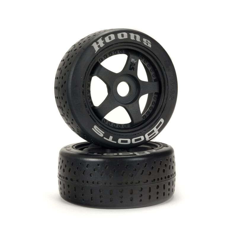 1/7 dBoots Hoons 42/100mm Silver Belted Tires with 2.9 5-Spoke Wheels, 17mm Hex (2)