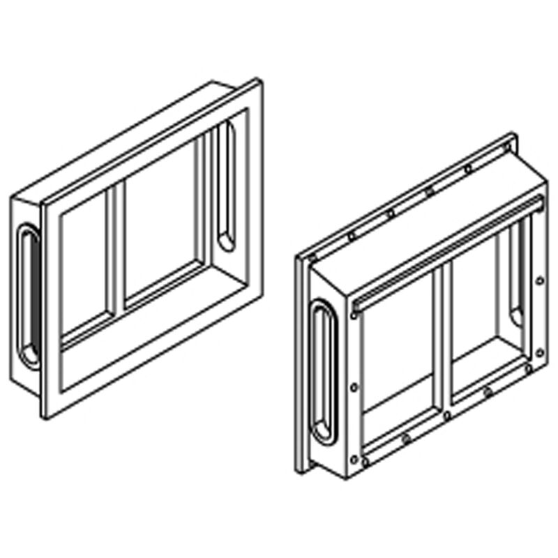 HO All-Weather Window Set, 2 Pane/Shallow/Angle(6)