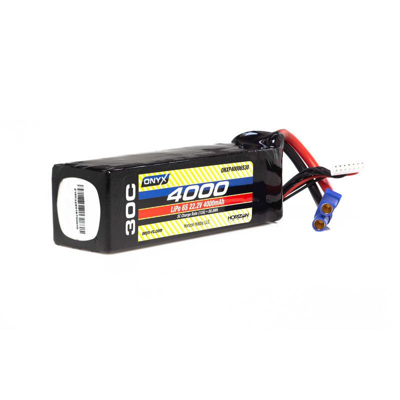 22.2V 4000mAh 6S 30C LiPo Battery: EC5