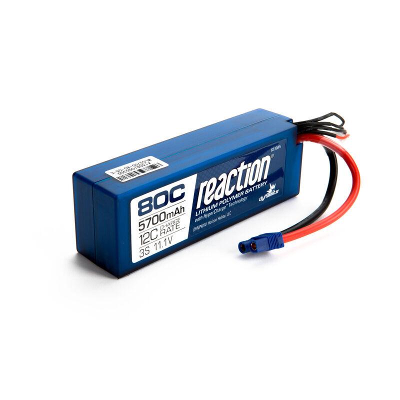 11.1V 5700mAh 3S 80C LiPo Battery: Hardcase, EC3