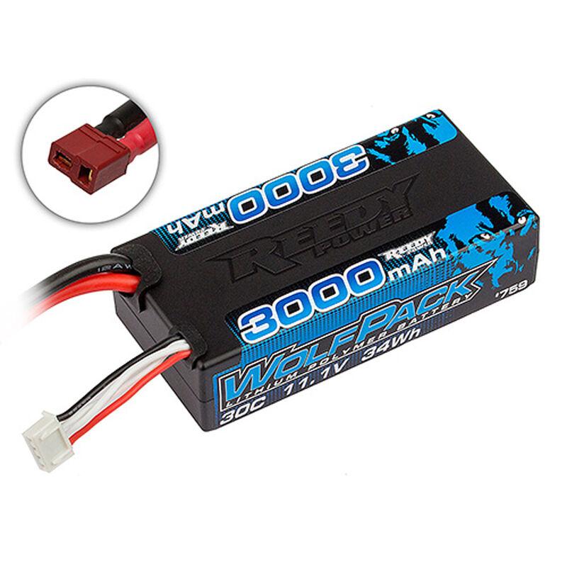 11.1V 3000mAh 3S 30C Reedy Wolfpack Shorty LiPo Battery: T-plug