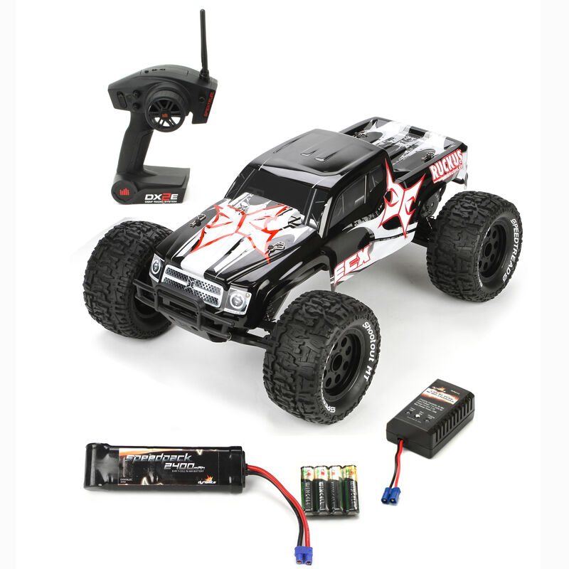 1/10 Ruckus 2WD Brushless Monster Truck RTR, Black/White