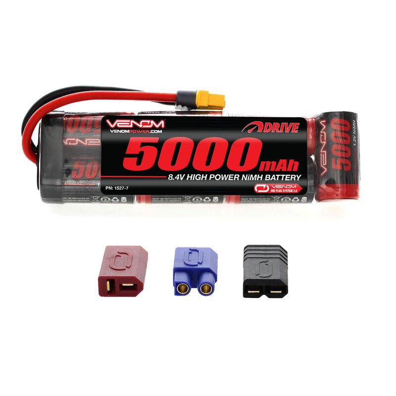 8.4V 5000mAh 7-Cell DRIVE Flat NiMH Battery: UNI 2.0 Plug