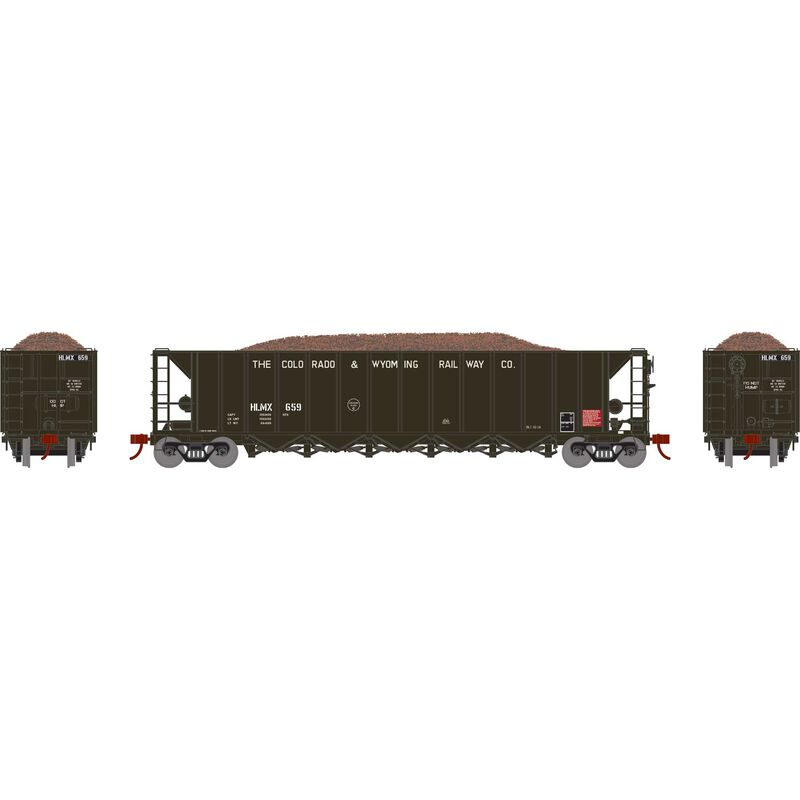 HO RTR 5-Bay Rapid Discharge Hopper HLMX #659