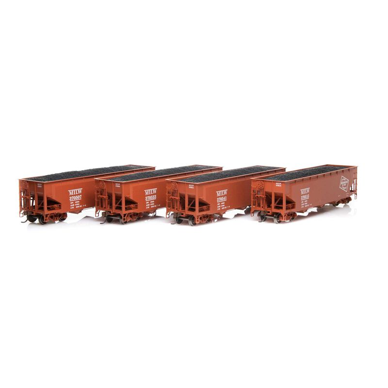 HO RTR 40' 3-Bay Offset Hopper with Load MILW #1 (4)