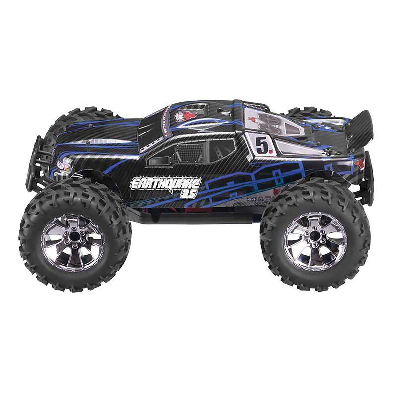 1/8 Earthquake 3.5 4WD Nitro Monster Truck RTR, Blue