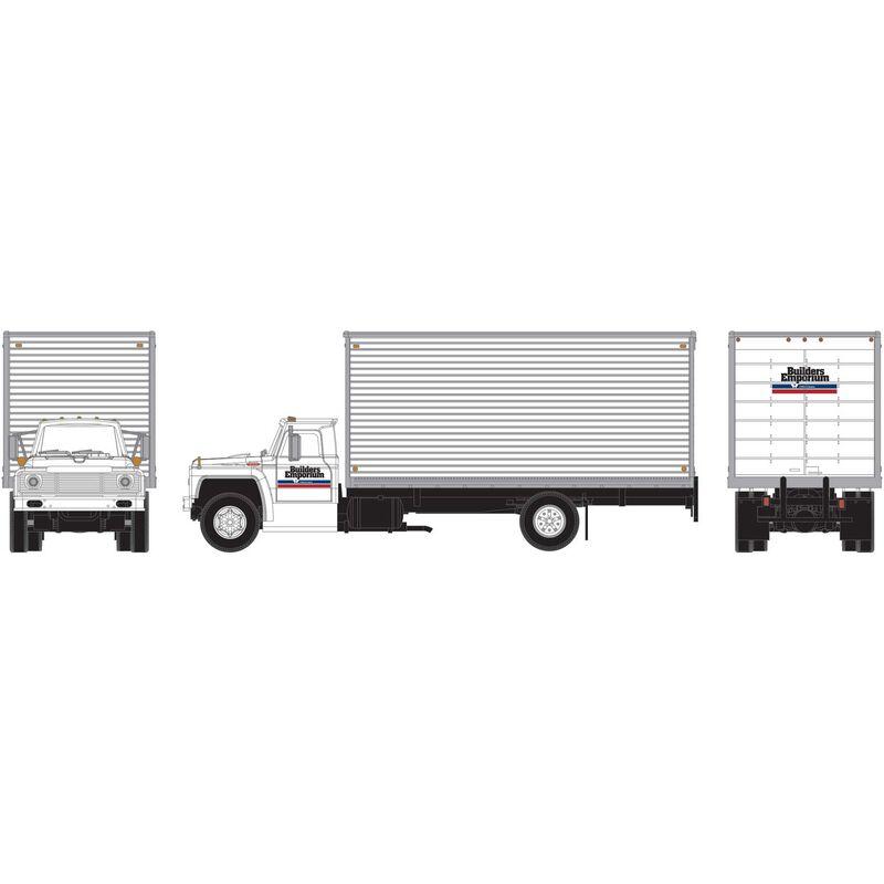 HO RTR Ford F-850 Box Van Builders Emporium
