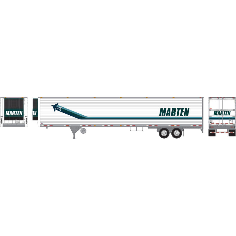 HO 53' Reefer Trailer, Marten #3341