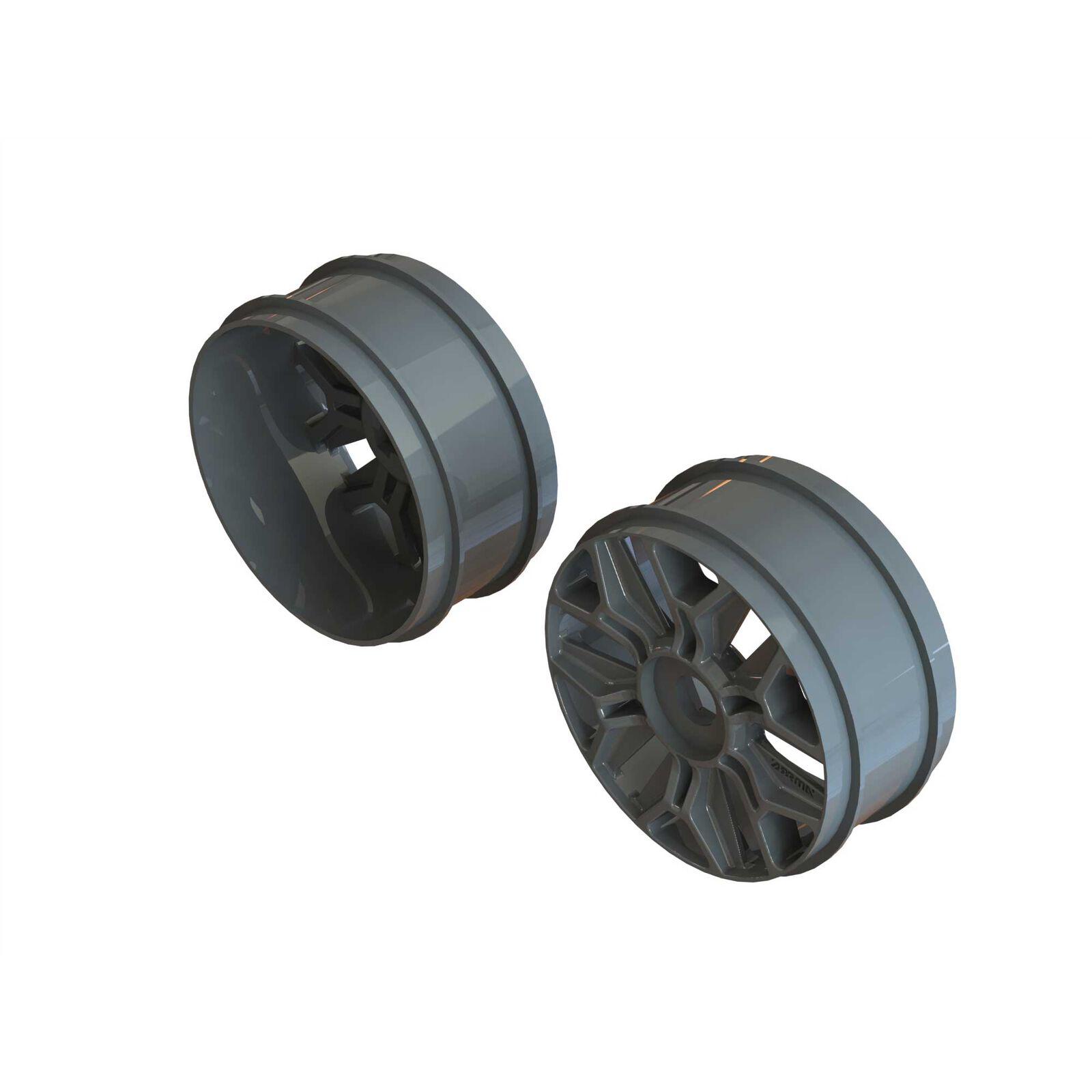 1/8 Buggy Wheel 17mm Hex Gun Metal (2)