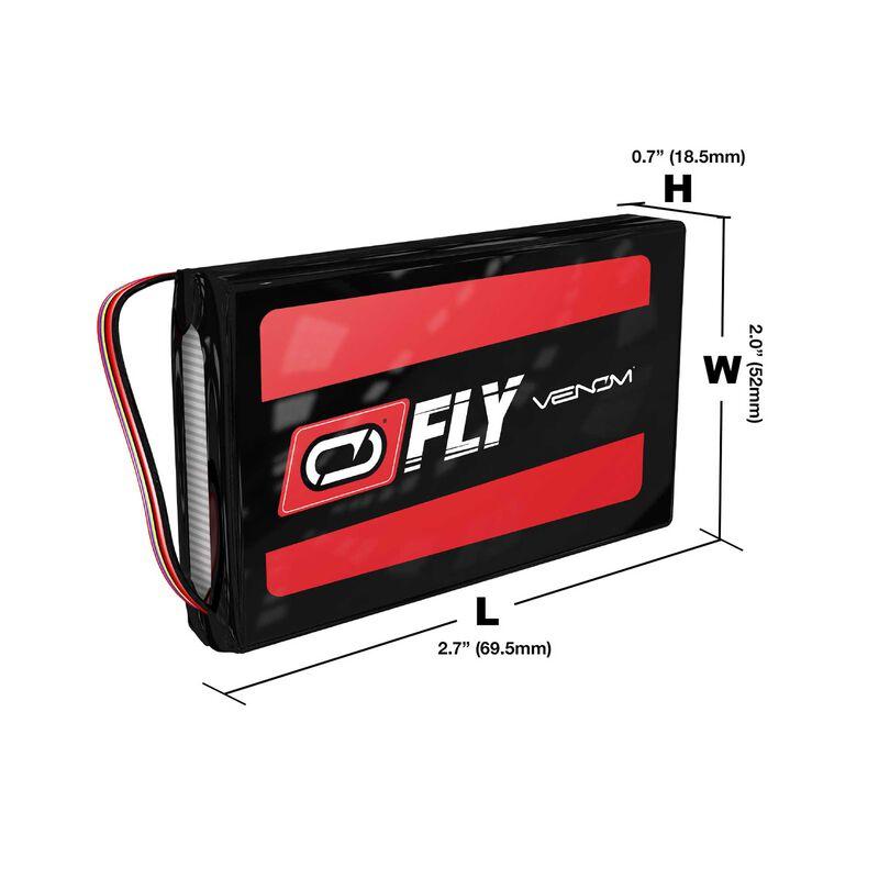 7.4V 4000mAh 2S LiPo Transmitter Battery: TX Plug