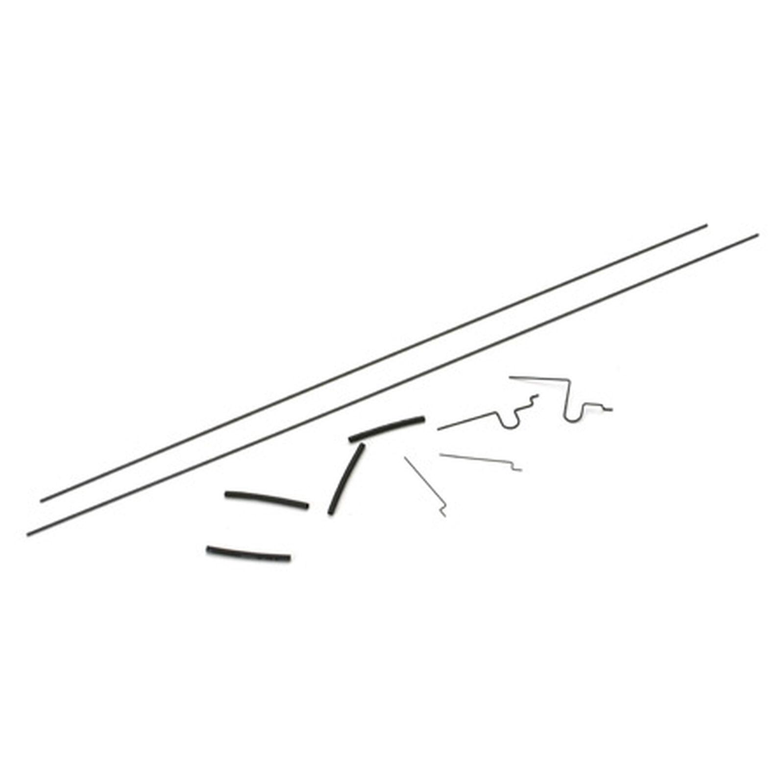 Elevator and Rudder Pushrod Set: Micro P-51