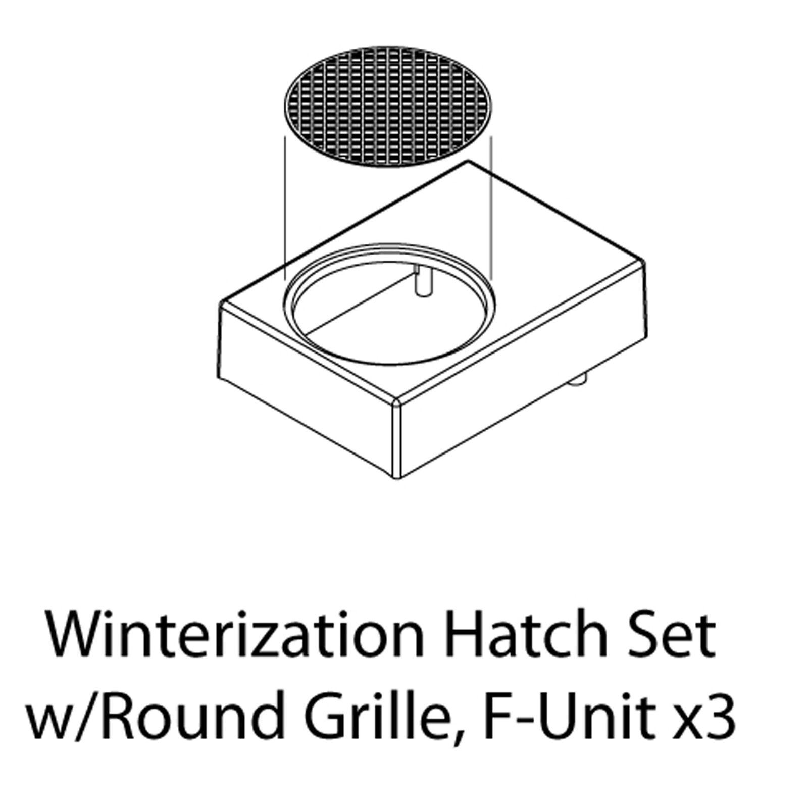 HO Winterization Hatch Set w/Round Grille, F-Unit