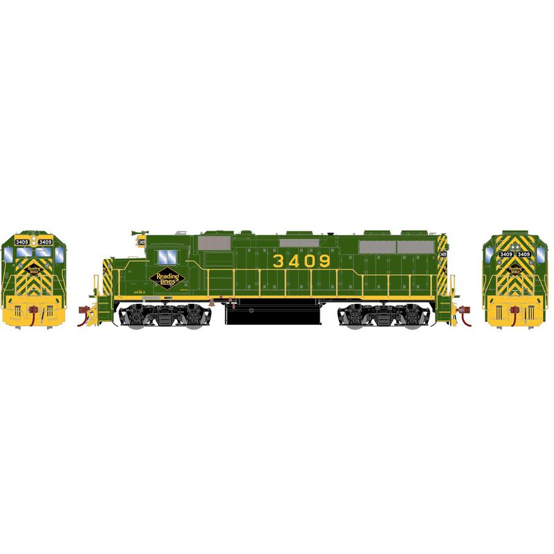 HO GP39-2 with DCC & Sound RDG #3409