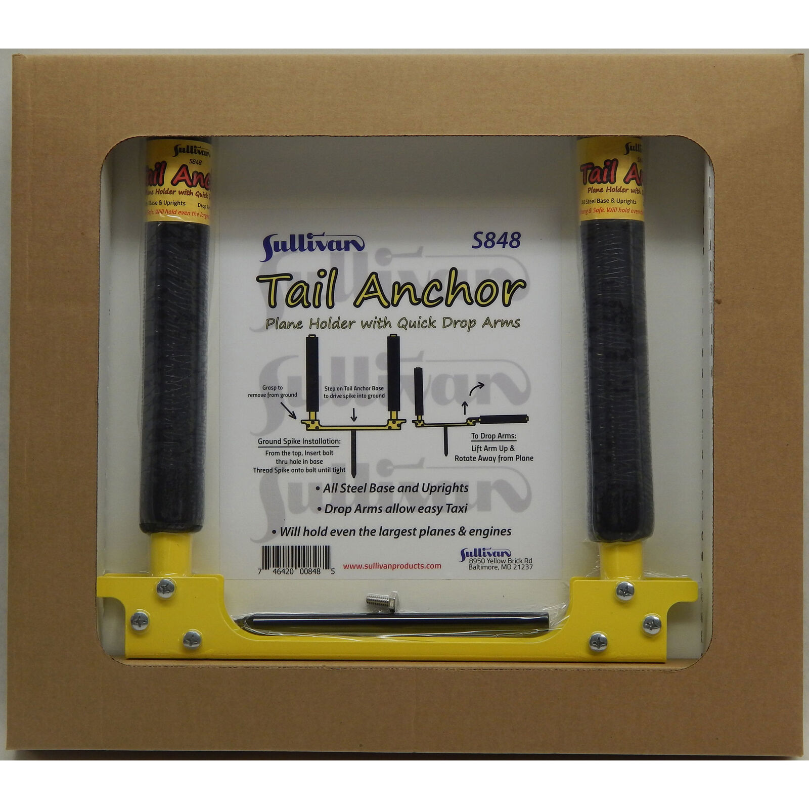 Tail Anchor Plane Holder with Drop Arms