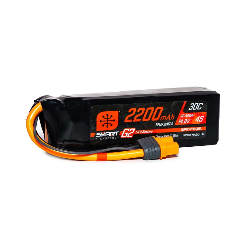 14.8V 2200mAh 4S 30C Smart LiPo G2: IC3