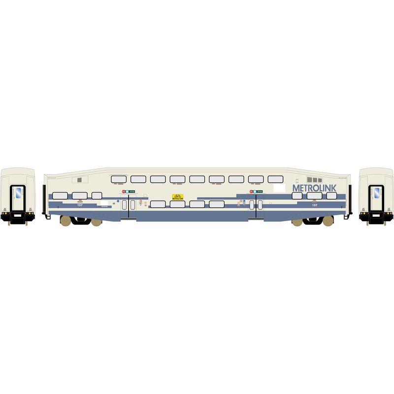HO RTR Bombardier Coach, Metrolink/Bikes #157