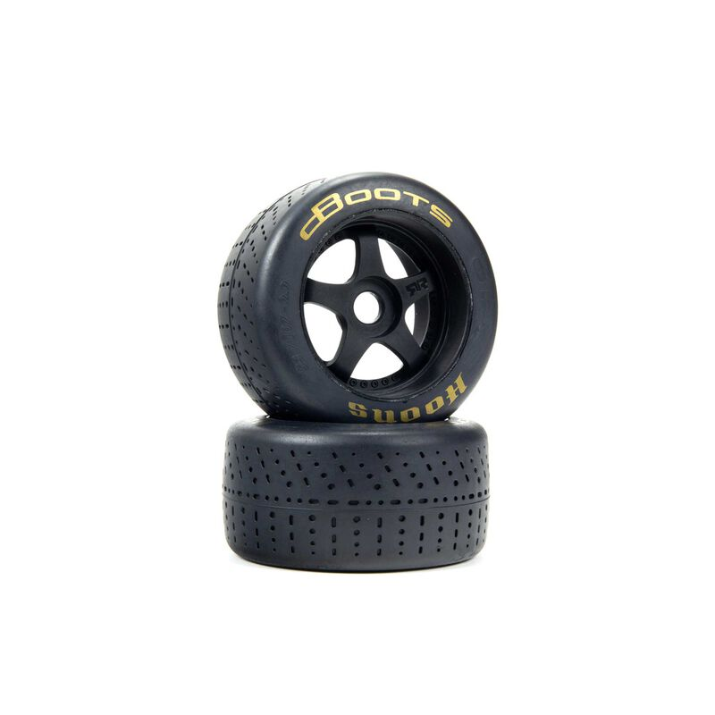 dBoots Hoons 53/107 2.9 Pre-Mounted Belted Tires, Gold, 17mm Hex, 5-Spoke (2)