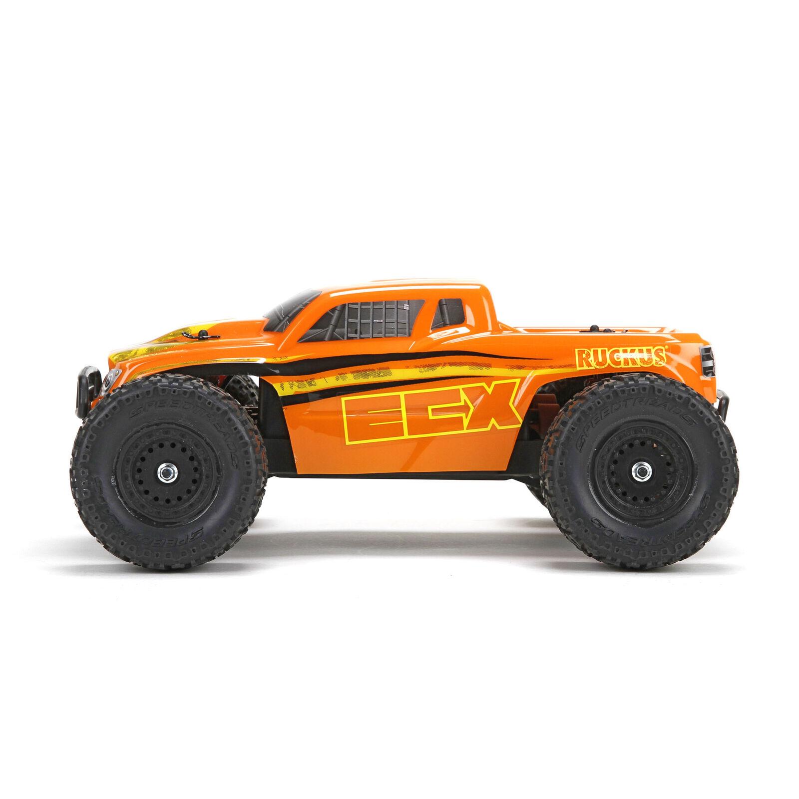 1/18 Ruckus 4WD Monster Truck RTR, Orange/Yellow