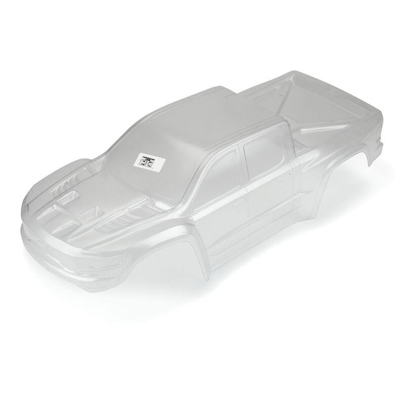 Clear Body, Pre-Cut 2021 Ram 1500: Traxxas X-MAXX