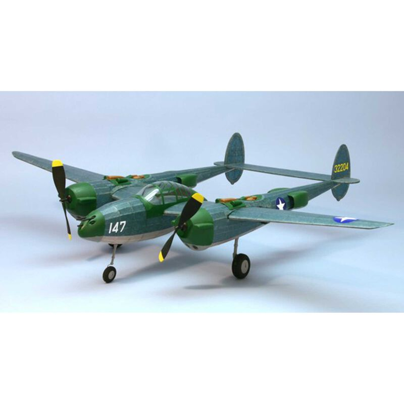 "P-38 F/M Rubber Powered Lightning Kit, 30"""