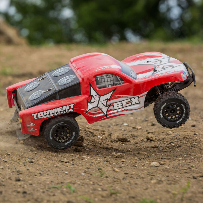 1/10 Torment 2WD SCT Brushless with LiPo RTR, Red