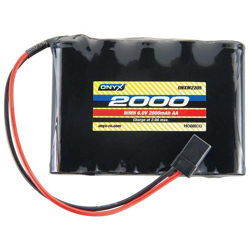 6.0V 2000mAh AA NiMH Flat Receiver Battery: Universal Receiver