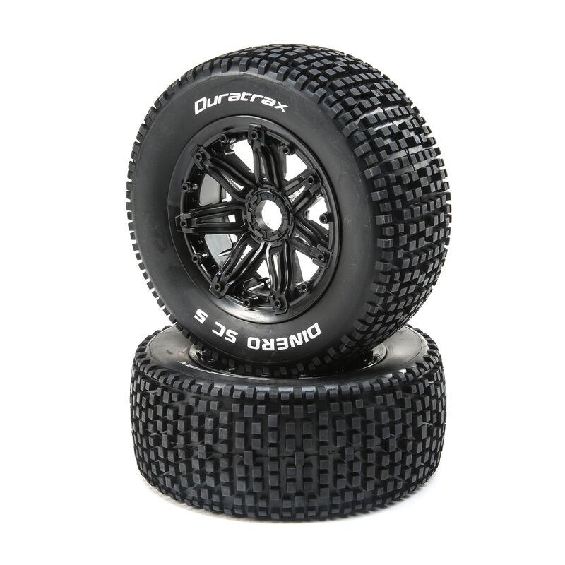 Dinero 1/5 SC Sport Mounted Black Tires 24mm (2)