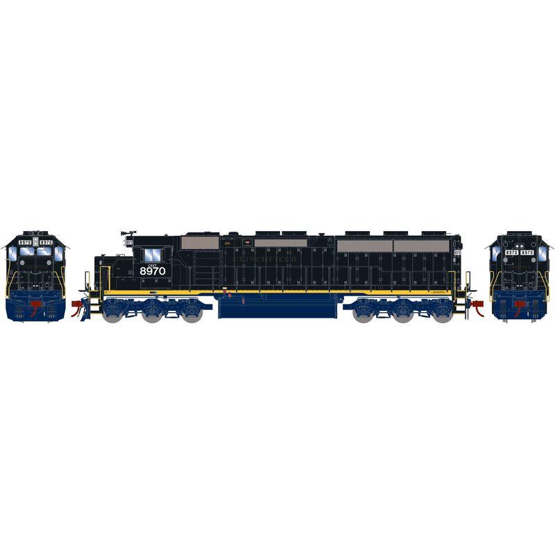 HO SD45-2 CSX ex CRR #8970