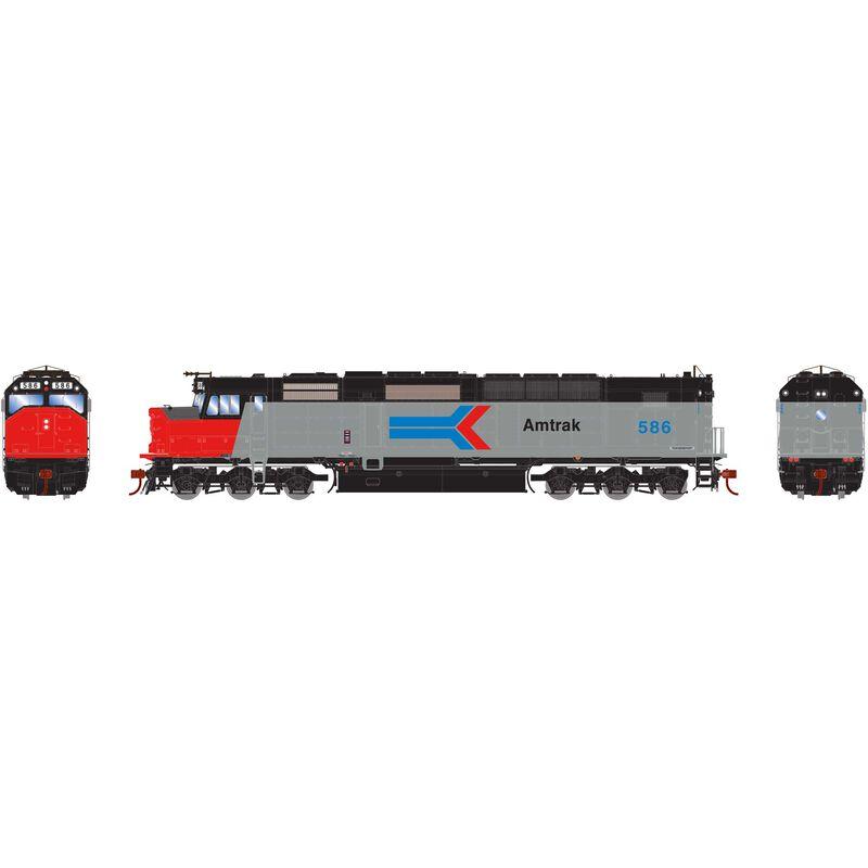 HO SDP40F with DCC & Sound Amtrak #587
