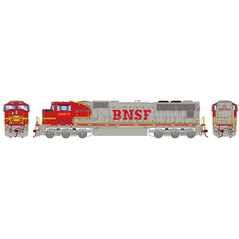 HO SD75M with DCC & Sound BNSF Warbonnet #8263