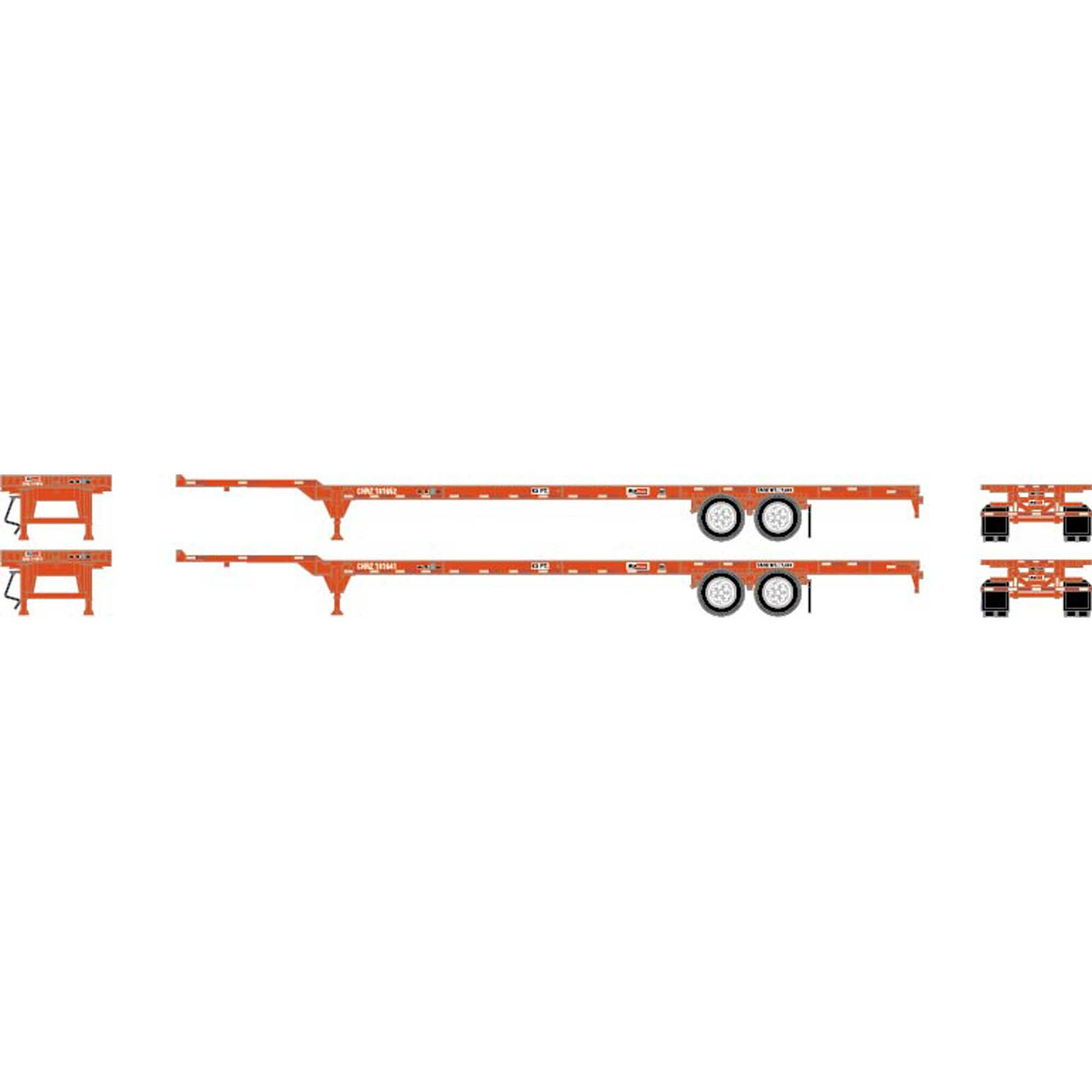 HO RTR 53' Chassis, CN (2)