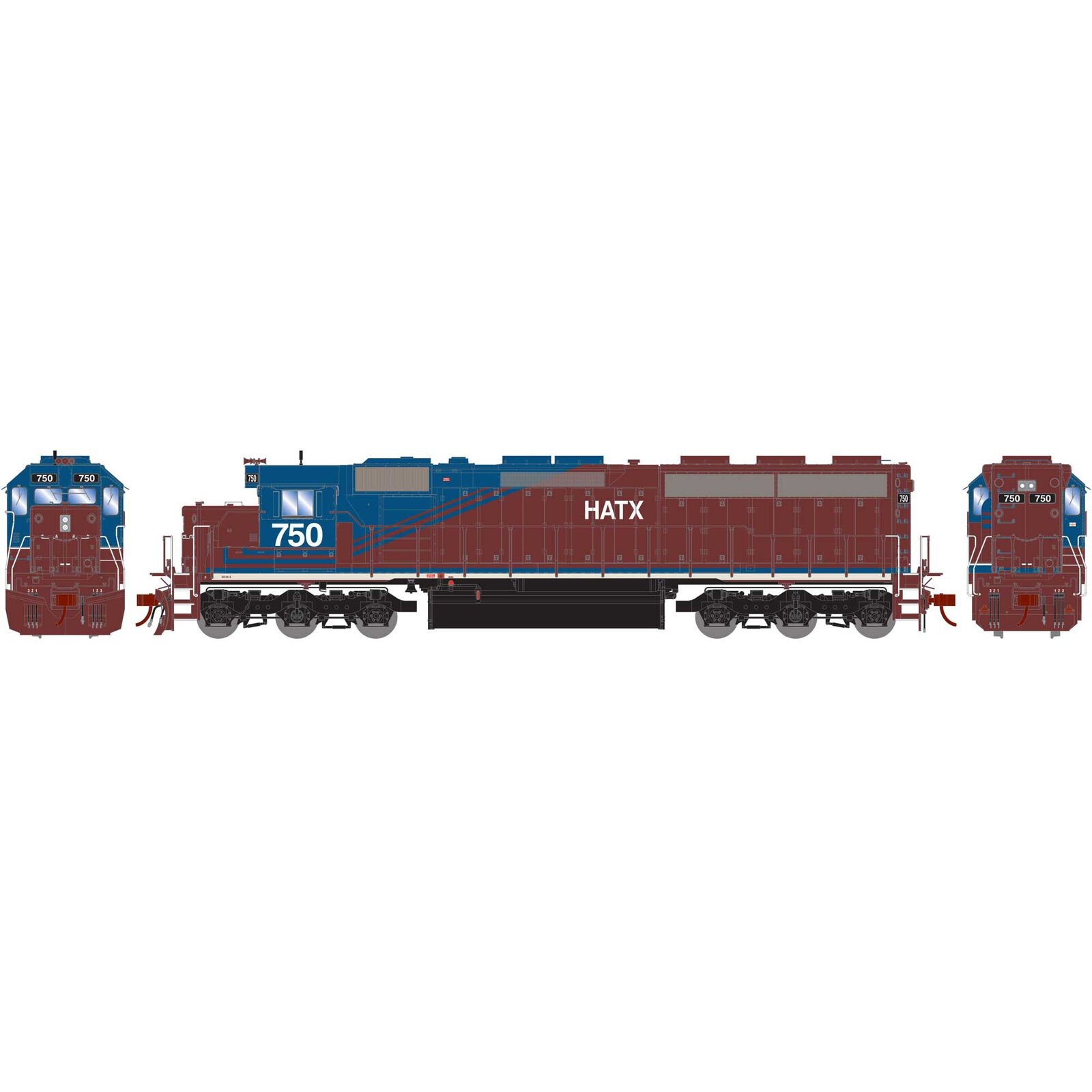HO SD45-2 with DCC & Sound HATX #750