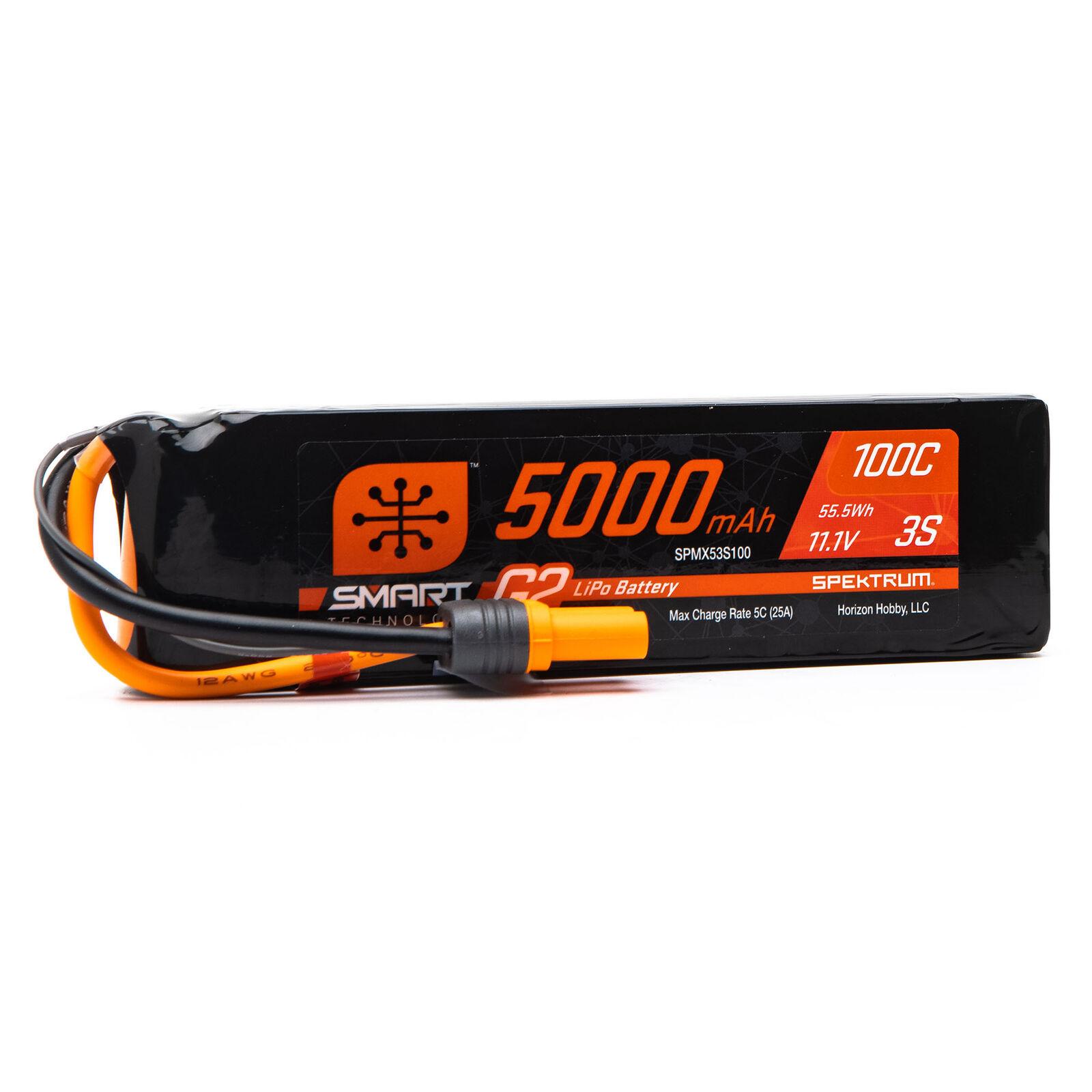 11.1V 5000mAh 3S 100C Smart G2 LiPo Battery: IC5