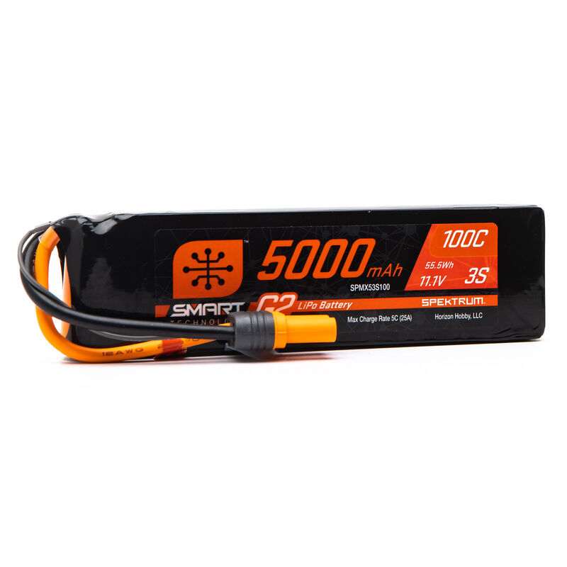 11.1V 5000mAh 3S 100C Smart G2 LiPo Battery: IC5