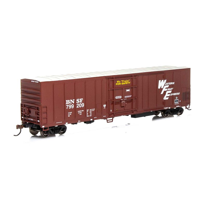 HO RTR 57' PCF Mechanical Reefer BNSF Brown#799209