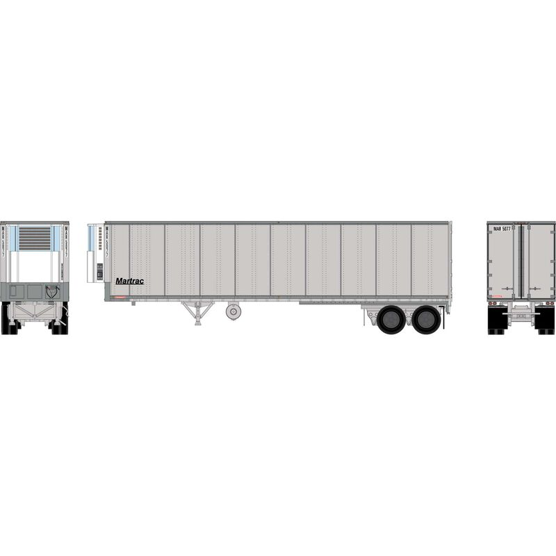 HO RTR 40' Fruehauf Z-Van Trailer, MAR #5077
