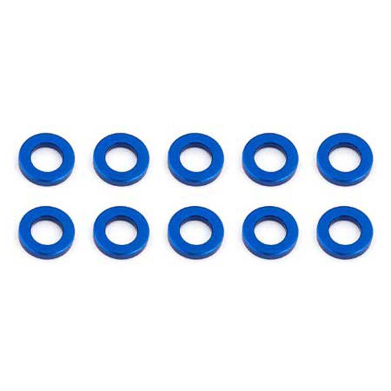 Ballstud Washers, 5.5x1mm, Blue Aluminum (10)