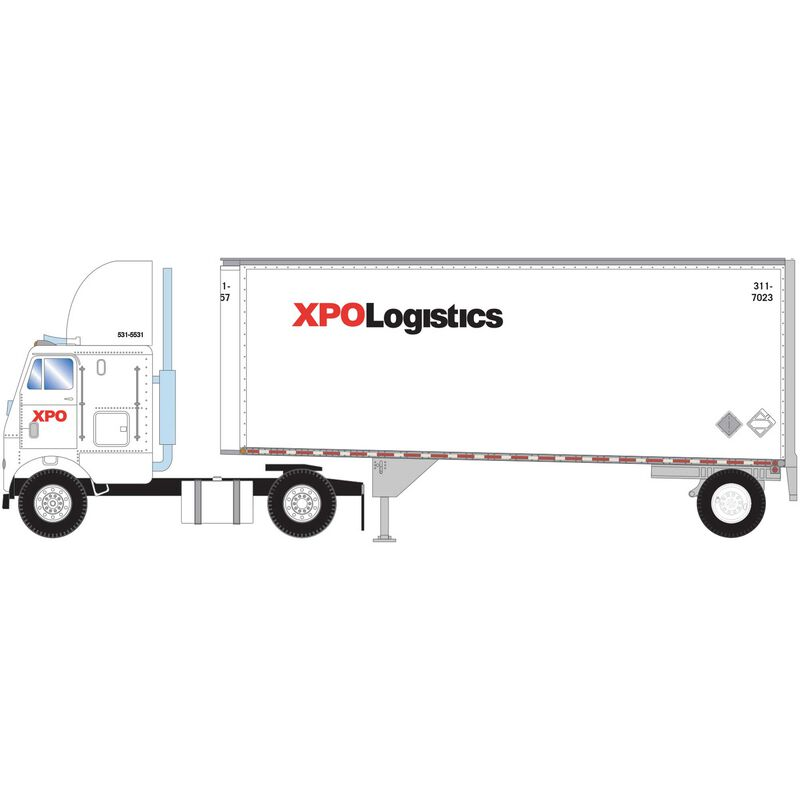 HO RTR FL-2 Axle with 28' Trailer XPO