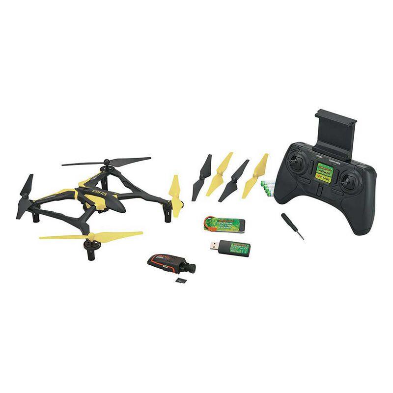 Vista FPV V2 UAV Quadcopter RTF, Yellow/White