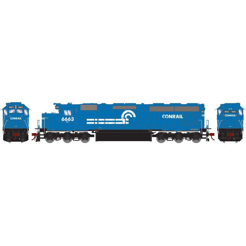 HO SD45-2 with DCC & Sound, CR/Blue Early #6663