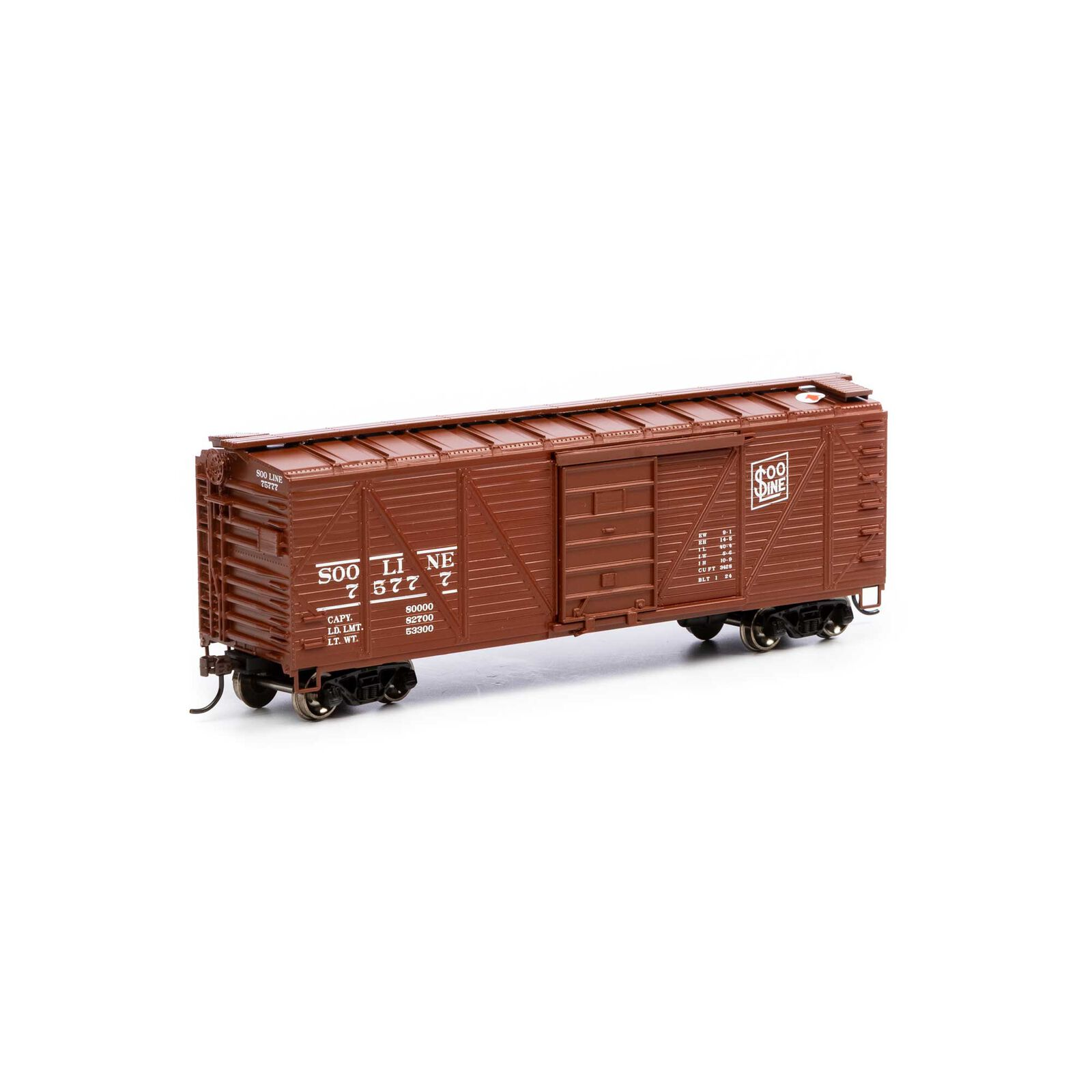HO 40' Ribbed Wooden Box SOO #75777