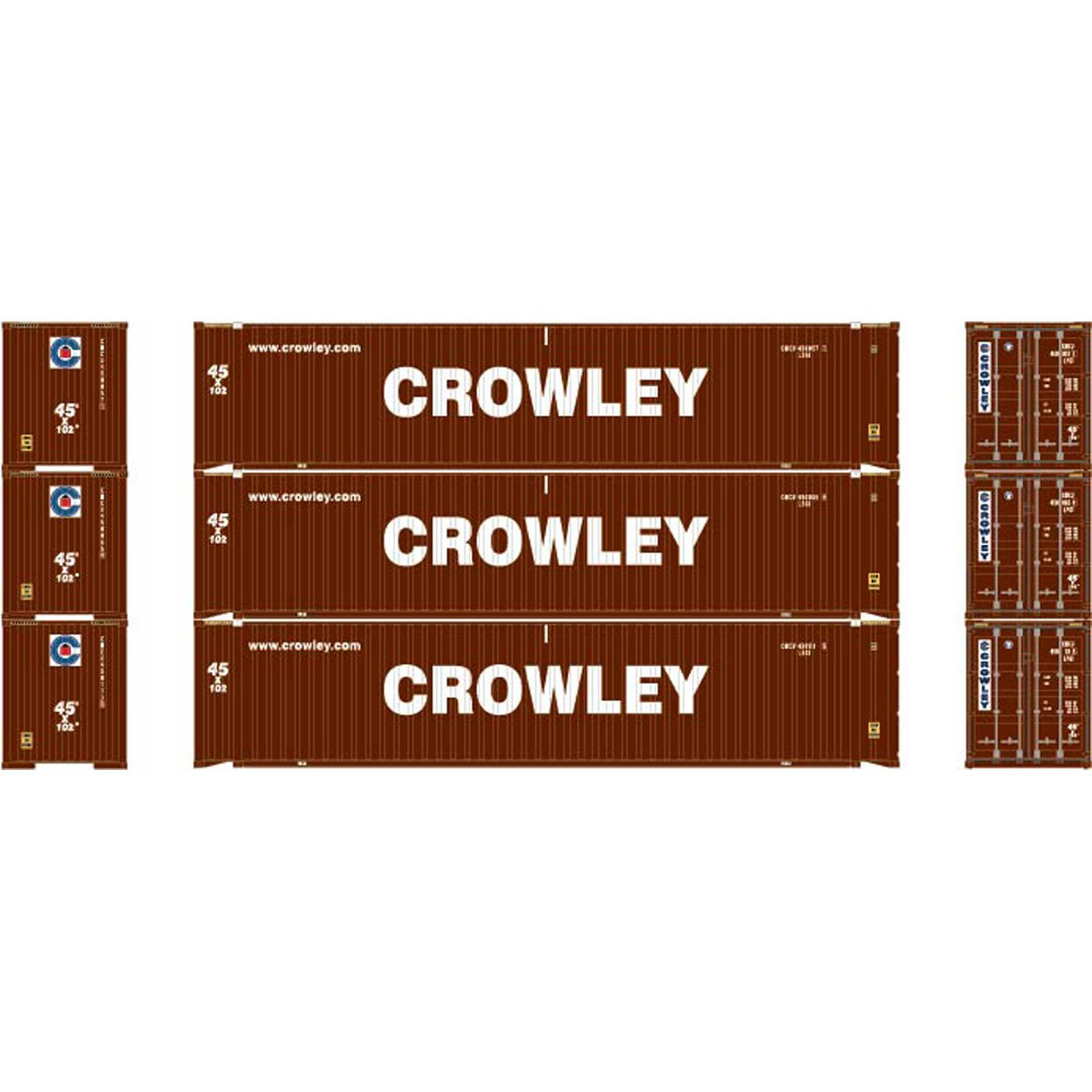 HO RTR 45' Container, Crowley #1 (3)